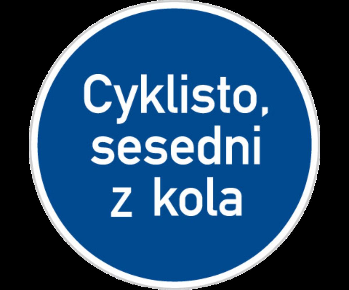 Nápisu na dopravní značce